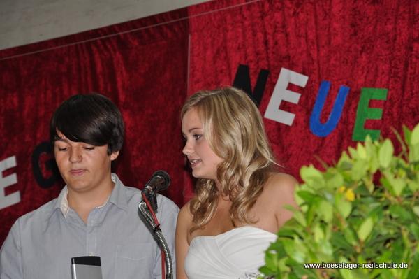 Janek Josten und Meryt Stabe bei ihrer tollen Abschlussrede