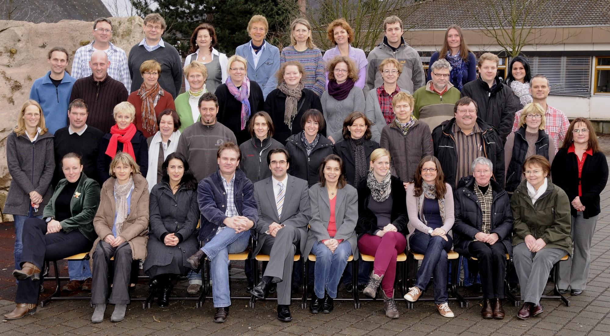 Das Lehrerkollegium im Dezember 2011
