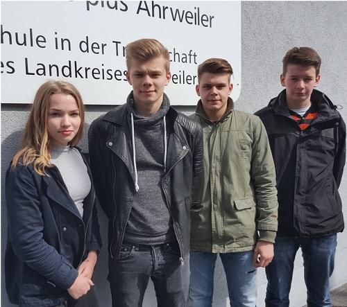 Das komplette SV-Team 2016: Greta Golly, Jan-Patrick Artz, Simon Bauer & Johannes Spintler