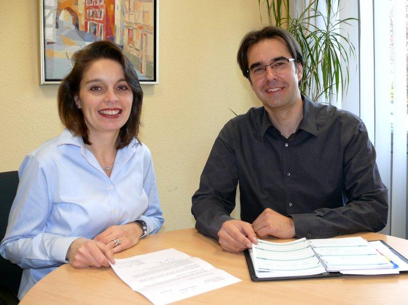 1. Realschulkonrektorin Bettina Lanzerath und Realschulrektor Klaus Dünker