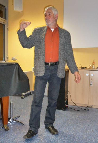 Werner Hübner begeistert seine Zuhörer