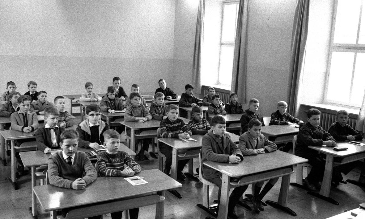 Die erste Klasse 1962 (Foto: Vollrath)