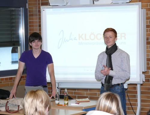 Florian Schneider und Nick Falkner (Junge Union): Freiheit/Menschenrechte