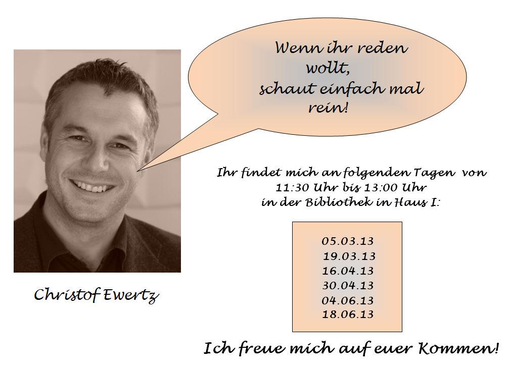 Christof Ewertz - Sorgenbüro an der Boeselager-Realschule