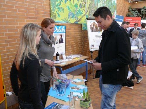 Auch der Weltmarktführer Klaes aus Ahrweiler informierte die Schüler