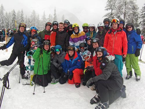 Boeselager-Realschüler auf Ski- und Snowboardwoche im Ahrntal/Südtirol