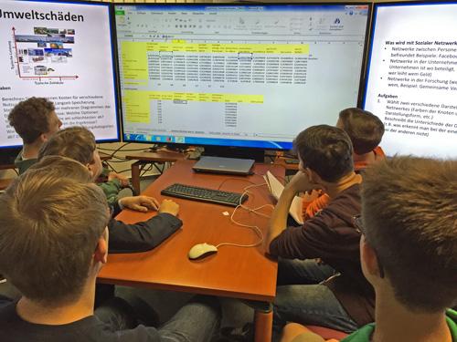 Hier lernten die Schüler die Wirkung von Veränderungen bestimmter Umweltfaktoren kennen