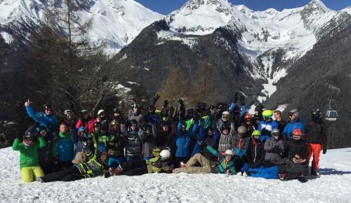 Die Wintersportgruppe der Boeselager-Realschule Ahrweiler  - zum Vergrößern anklicken...