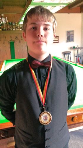 Thaddy Taxis (Klasse 8a) wird U 21 Rheinland-Pfalz-Meister im Snooker