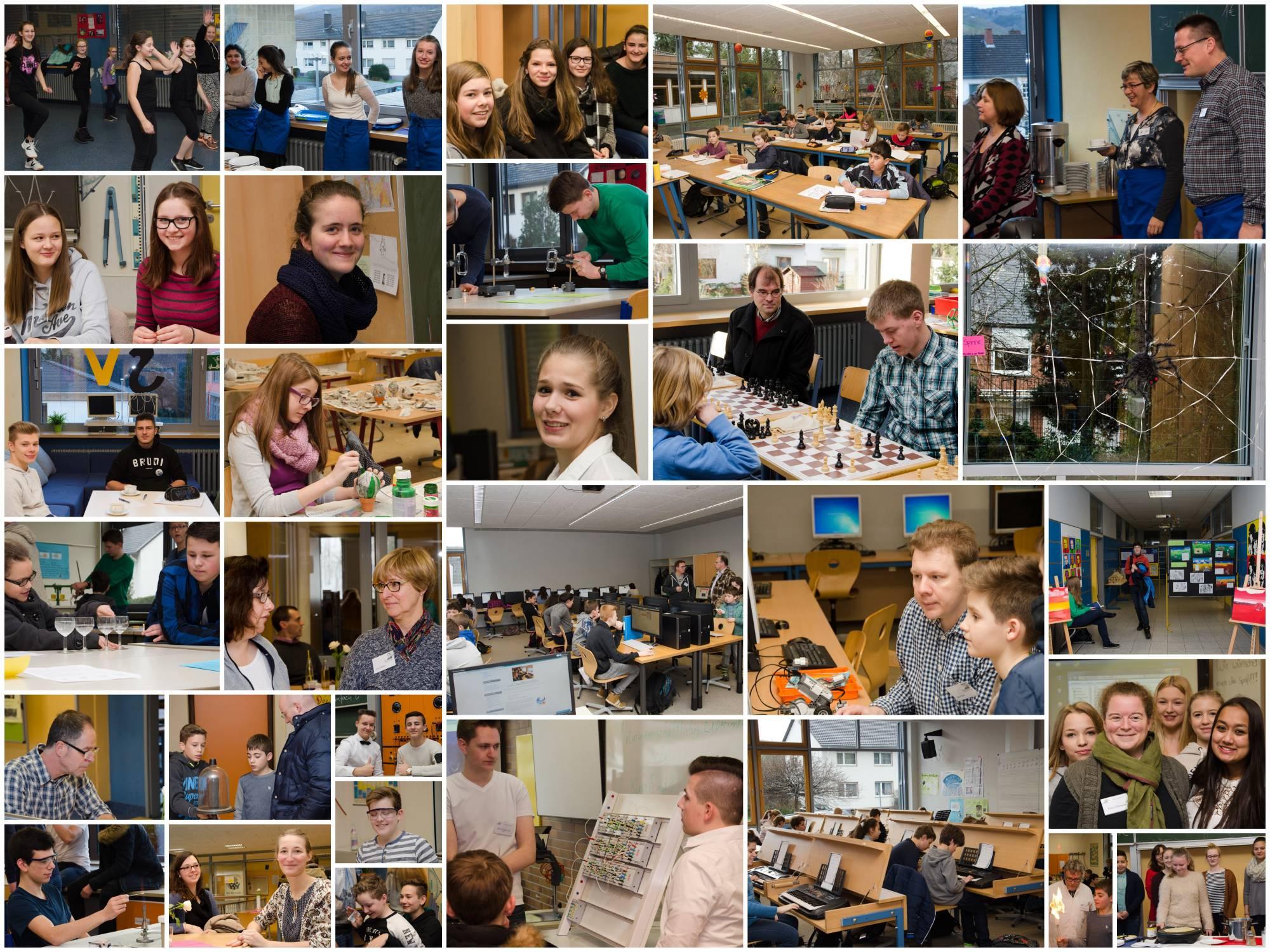 Schule öffnete sich: Jede Menge los in alle Räumen der Boeselager-Realschule Ahrweiler