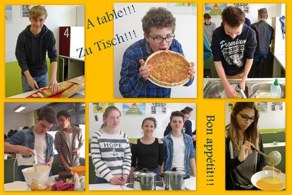 """Gemeinsames Kochen im """"atelier cuisine"""""""