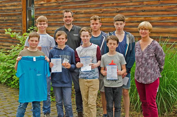 Die Schulsieger beim Känguru-Wettbewerb 2016