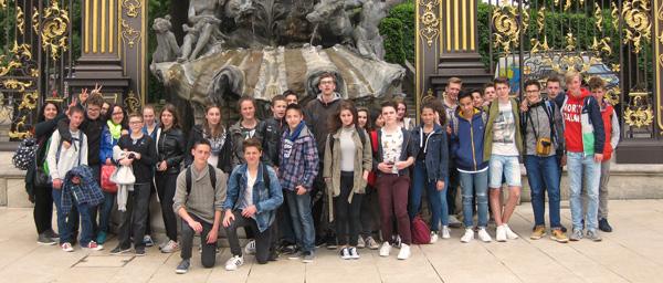 Frankreichaustausch 2016: Gemeinsamer Besuch der Stadt Nancy