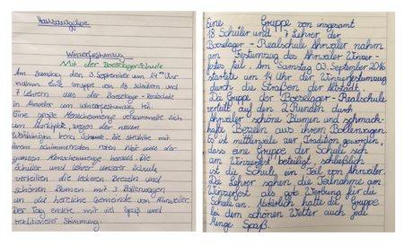 Dieser Bericht wurde im Rahmen des Deutschunterrichtes der Klasse 6b von Shayla und Niklas geschrieben.