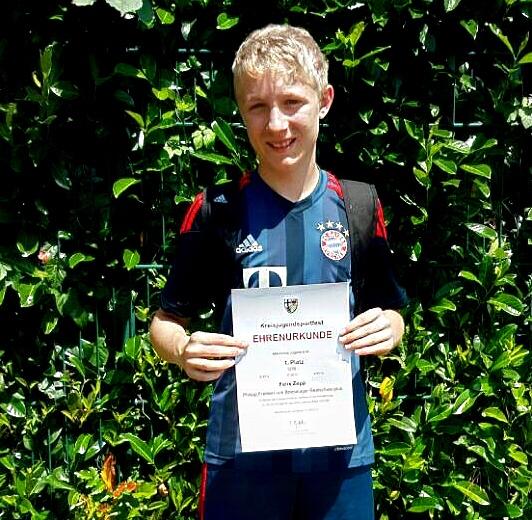 Felix Zepp - Kreismeister im Dreikampf in der Klasse U14