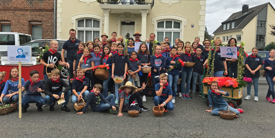 Boeselager-Realschule beim Winzerfestumzug