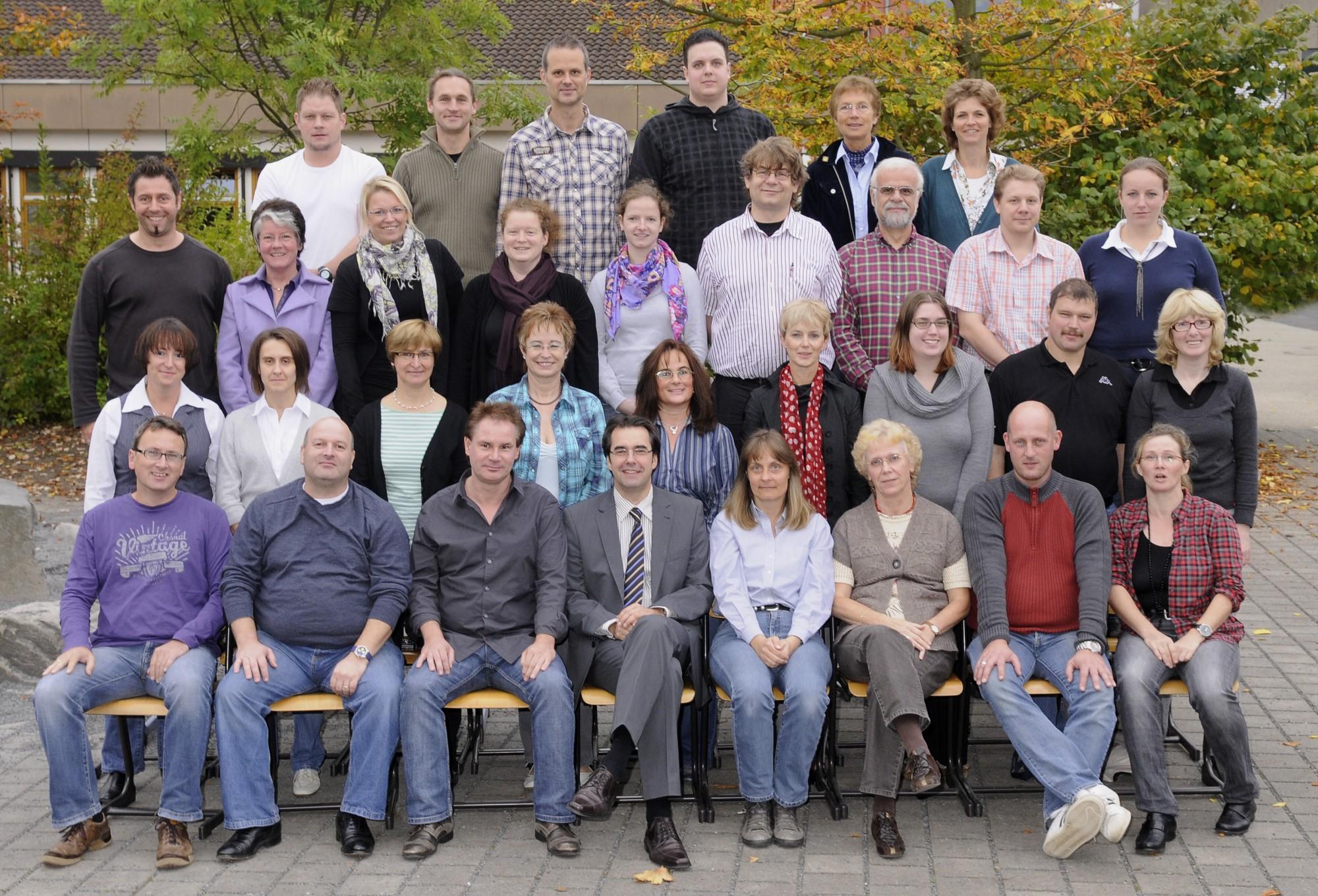 Das Lehrerkollegium im Oktober 2010