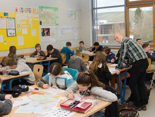 Einblick in den Erdkunde-Unterricht bei Dr. Thomas Schroer
