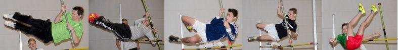 Erste Versuche im Stabhochsprung wurden in der Sporthalle der Boeselager-Realschule vorgeführt