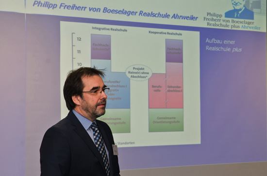 Schulleiter Klaus Dünker informierte über die Boeselager-Realschule Ahrweiler