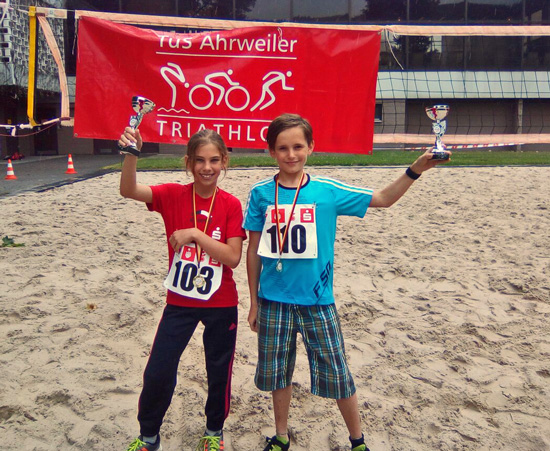 Unter den Top 10: Melina Görgler und Pascal Näkel aus der Sportklasse 5d