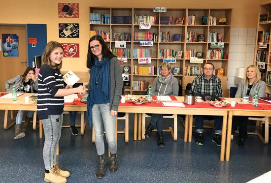 Natalie Hees mit der besten Vorleserin 2017: Katharina Ley