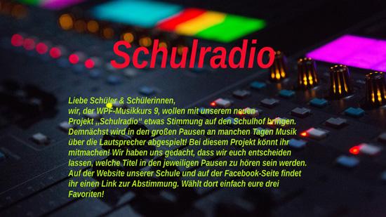Projekt ,,Schulradio''