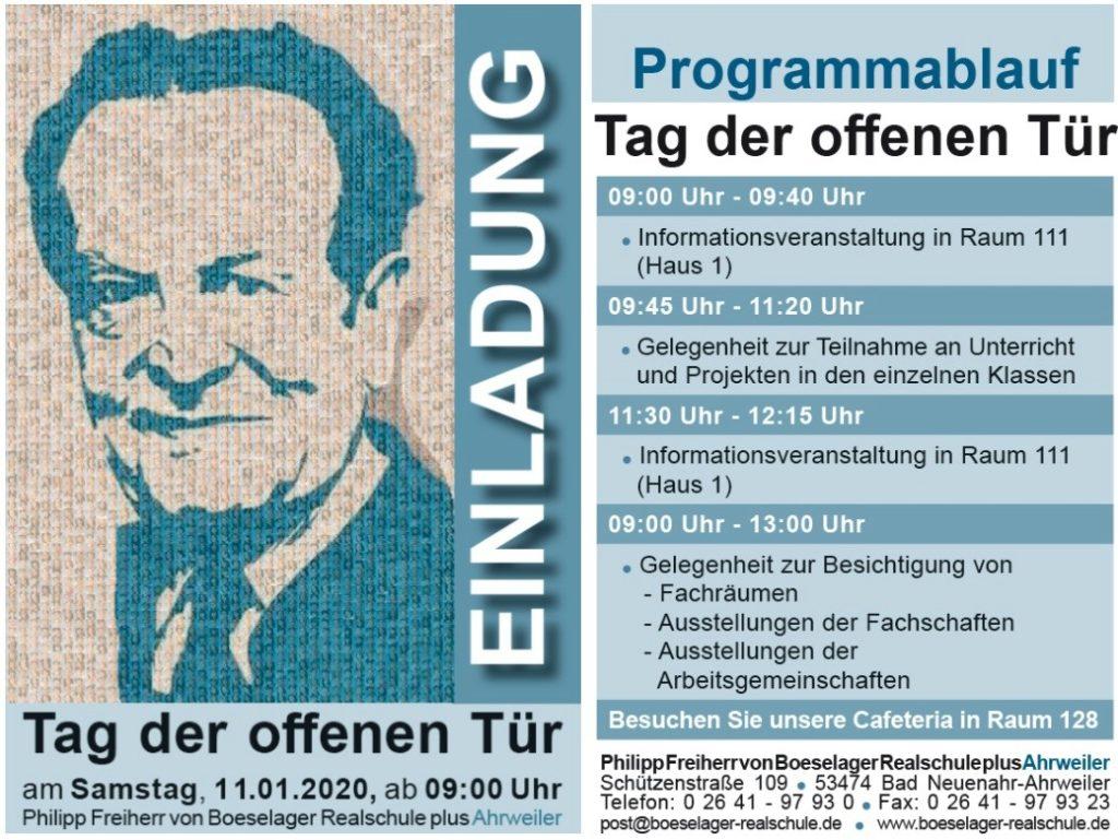 Boeselager-Realschule Ahrweiler stellt sich am 11. Januar 2020 vor