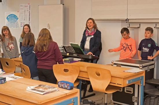 In den Musikunterricht konnte man am Tag der offenen Tür auch hineinschnuppern