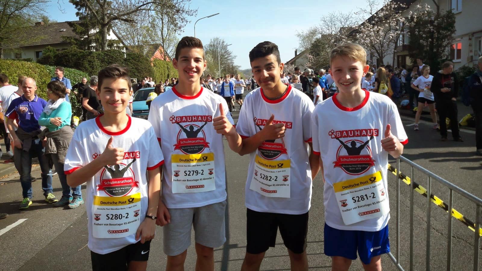Joshua, Sanih, Mustafa und Lucas waren in unserem zweiten Team schnell unterwegs