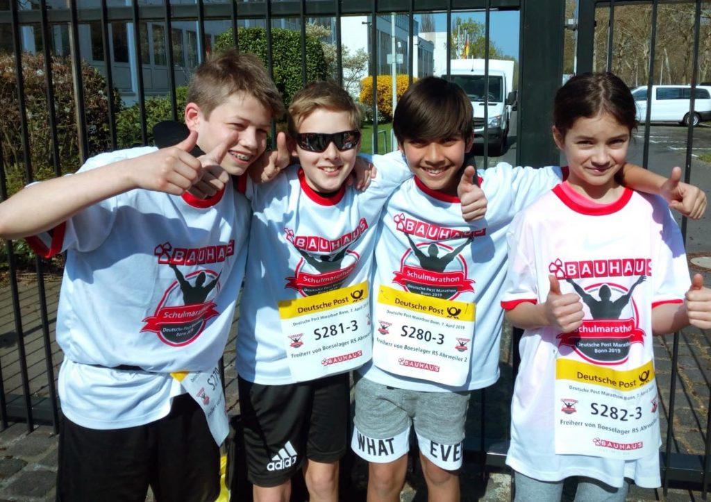 Auch unser drittes Team war gut unterweg: Jonas, Lukas, Björn und Klara