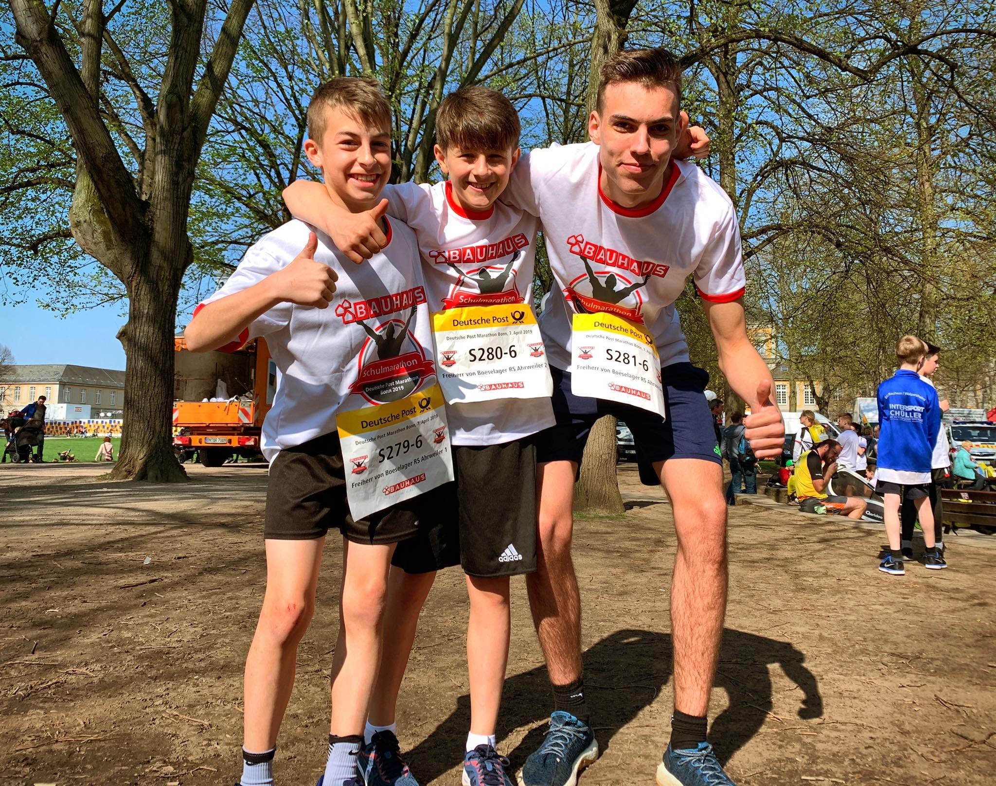 Und dann waren auch unsere Schlussläufer Aaron, Max und Lars sind im Ziel... Herzlichen Glückwunsch!!!