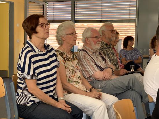 Auch die ehemaligen Lehrer unserer Schule wohnten der Verabschiedung Burkhard Benders bei...