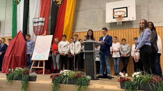 Auch die 28 Klassensprecher der Boeselager-Realschule hießen Timo Lichtenthäler willkommen