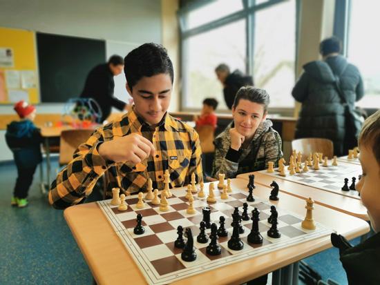 Auch die Ags - wie hier die Schach-AG - wurden vorgestellt...